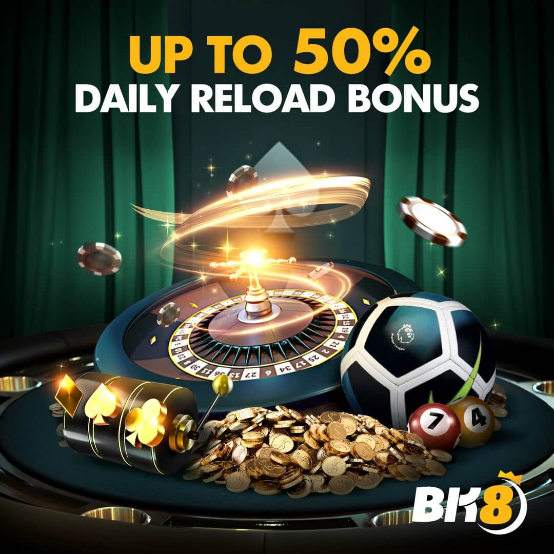 Daily reload up to 50% cashback